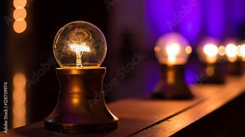 Fotografie, Obraz  Light Bulbs On Stage