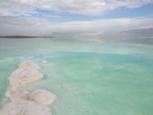 Dead Sea Under The Cloudy Sky
