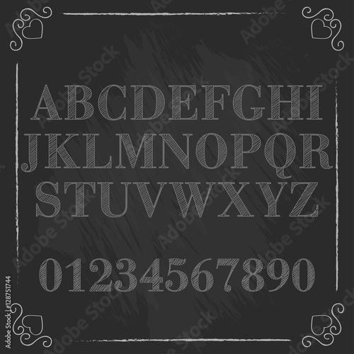 Font  Typeface  Script  Old style - vintage script font  Vector