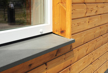 Window Sill With Modern Wooden...