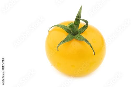 fresh dutch yellow tasty tom tomato on a white background Wallpaper Mural