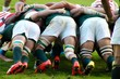 canvas print picture - South Africa vs Japan Rugby Scrum