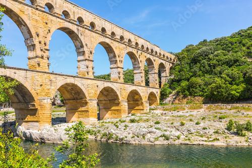 Pont du Gard is the highest Roman aqueduct Canvas Print
