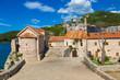 Citadel in old town in Budva