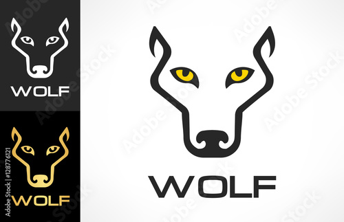 Wolf Head silhouette. Wolf logo vector. Tablou Canvas