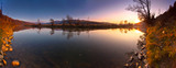 Fototapeta Krajobraz - Zachód słońca nad rzeka Poprad w Muszynie
