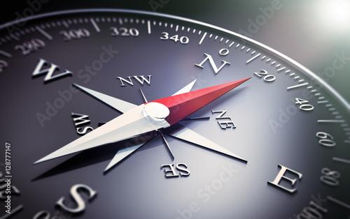 Fotografia  Schwarzer Kompass 2