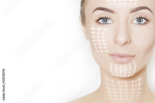 Fotografie, Obraz  skin lifting, beauty concept