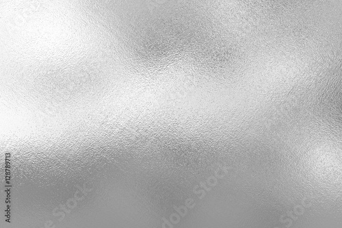 In de dag Metal Silver foil texture background