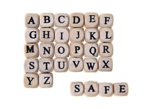 Safe Word With Letter Cubes