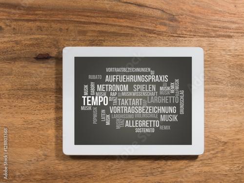 Tempo (Musik) Wallpaper Mural