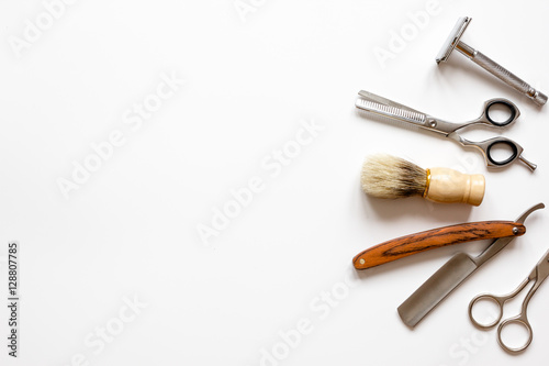 Photo  Instruments male hairdresser barbershop top view