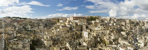 View of the Sasso Barisano, Sassi di Matera, Basilicata, Italy