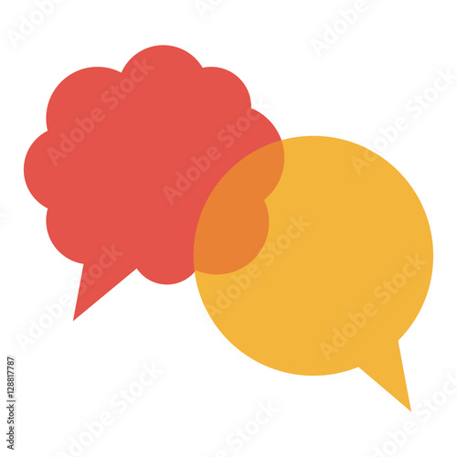 Fototapety, obrazy: Bubble icon. Communication message discussion and conversation theme. Isolated design. Vector illustration