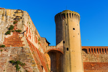 Old Fortress In Livorno, Italy