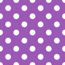 Seamless Purple Polka Dot Back...