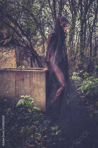 Fotografie, Tablou Girl in the black dress.
