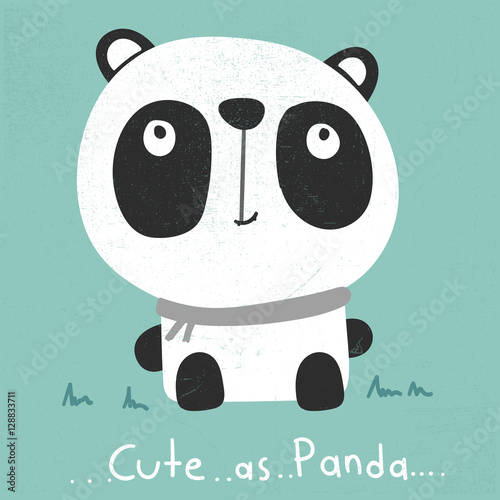 Photo  cute cartoon panda illustration vector