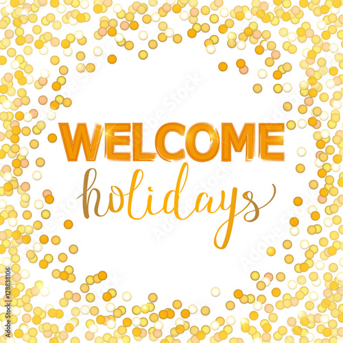 Welcome holidays. New year, xmas card. Vector - Buy this stock ...