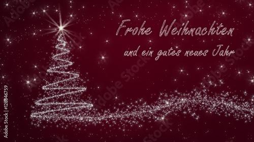 Text Frohe Weihnachten Und Ein Gutes Neues Jahr.Rot Silberne Weihnachtskarte Frohe Weihnachten Und Ein Gutes Neues