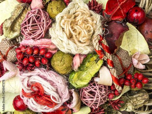 Fényképezés  Adornos de colores de Navidad