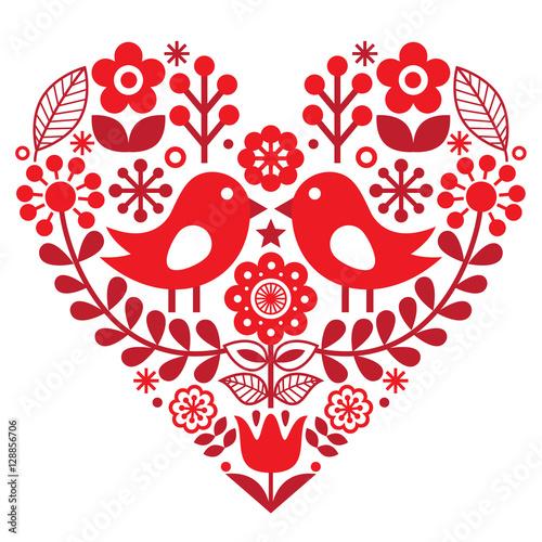serce-z-ludowym-wzorem