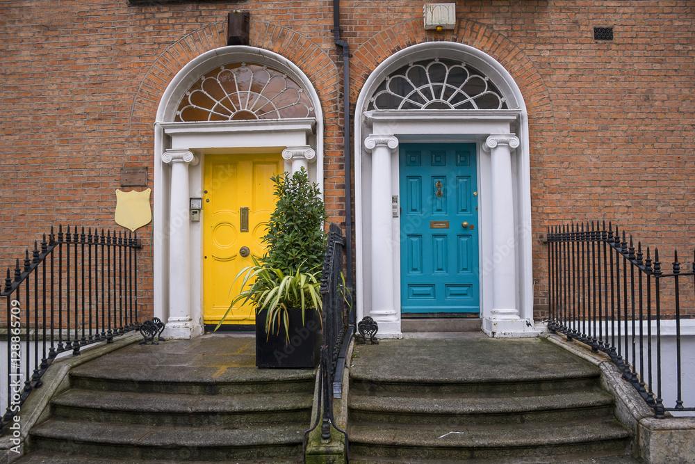 Fotografia  Georgian doors in Dublin