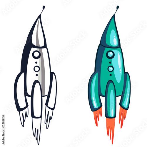 Fotografía  Picture blue rocket