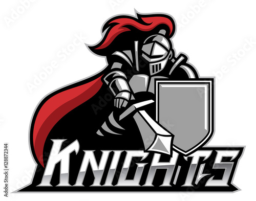 Foto knight mascot with shield