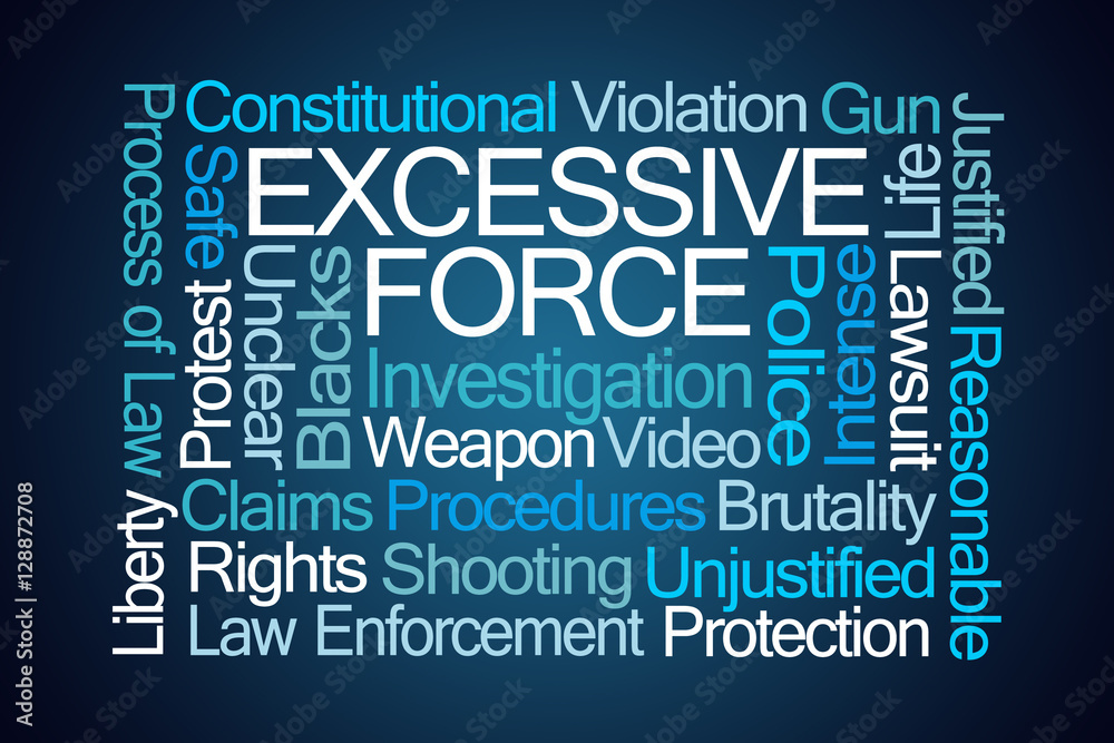 Photo  Excessive Force Word Cloud