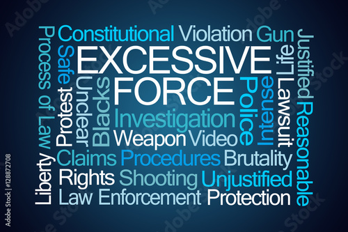 Fotografia  Excessive Force Word Cloud