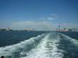 New york y Estatua de la Libertad desde el mar