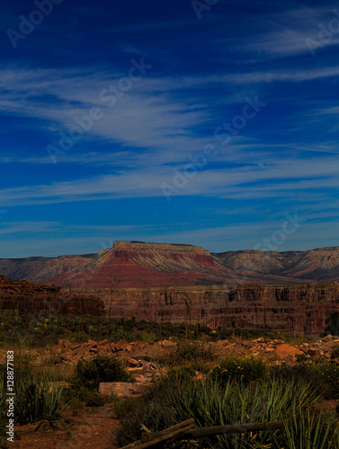 Foto op Canvas Australië Rocks and mountains of Grand Canyon and Nevada, Arizona dessert.