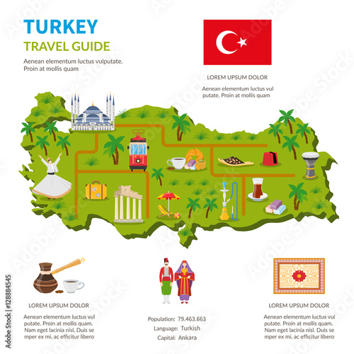 Fotografia  Turkey Infographics Travel Guide Page