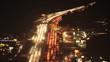 Time lapse of traffic during rush hour on Richardson Bay Bridge, Highway 101, Marin County, California