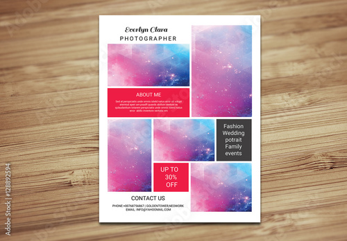 grid style photography flyer layout 3 buy this stock template and