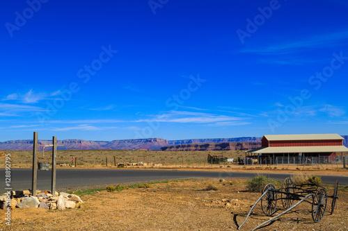 Montage in der Fensternische Leuchtturm Rocks and mountains of Grand Canyon and Nevada, Arizona dessert.