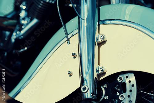 Fotomural  Detalle de una vieja motocicleta