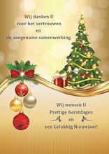 Zakelijke Nieuwjaarskaart: Wij...