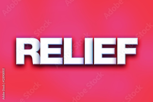 Valokuva  Relief Concept Colorful Word Art