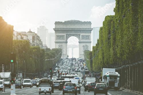 Staande foto Parijs Evening light on Champs Elysees - Paris