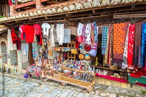 Street market in Kruja, Albania Canvas Print