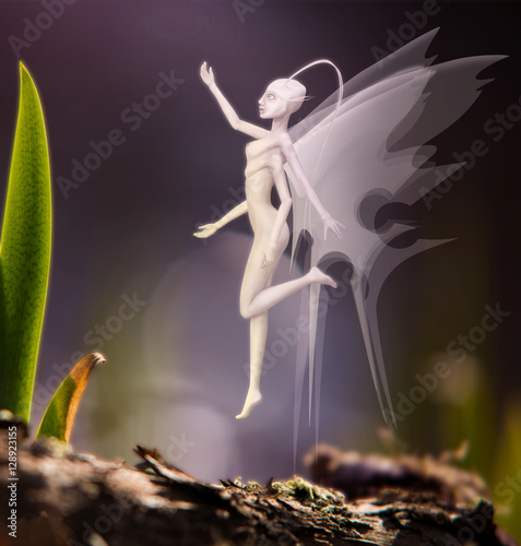 Photo  fantastic creature in the image of the fairies