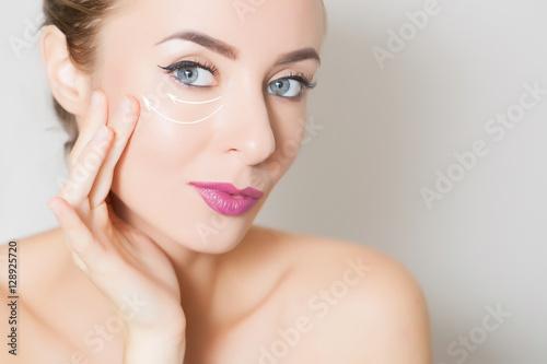 Fototapety, obrazy: skin lifting, beauty concept