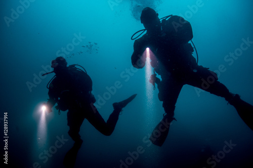 Photo  Divers in search of...