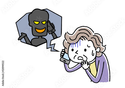電話:詐欺、犯罪の手口 Canvas Print