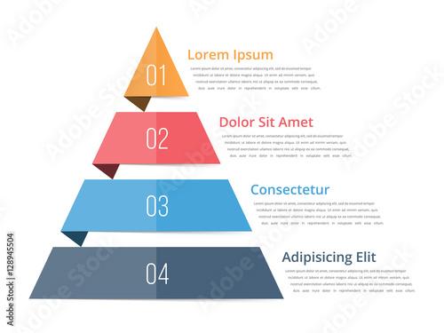 Stampa su Tela Pyramid Chart Template