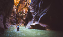 Zion Narrow  With  Vergin Rive...