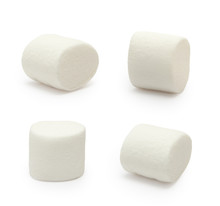 Marshmallows Isolated On White...