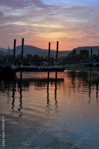 Photo Abenddämmerung am See Genezareth
